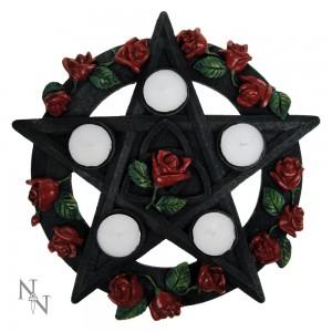 "Подсвечник ""Пентаграмма с розами"""