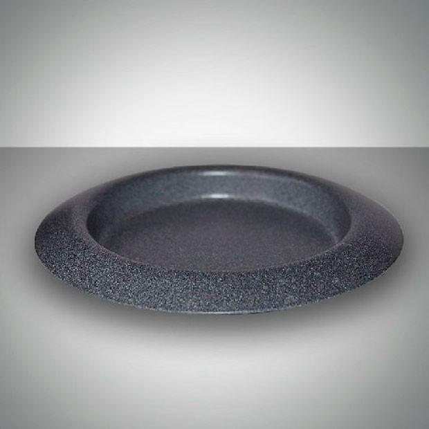 Подсвечник чашка 11 см серый